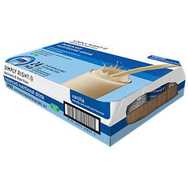 Simply Right Balanced Nutrition Drink - Vanilla - 8 fl. oz. - 24 pk.
