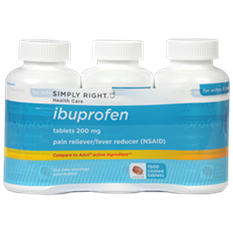 Simply Right Ibuprofen 200mg Tablets - 1500 ct.