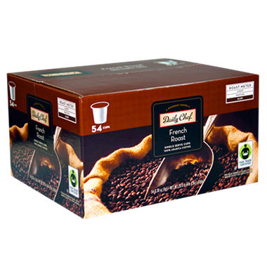 Daily Chef French Roast Coffee Single Serve Cups - 54 ct.