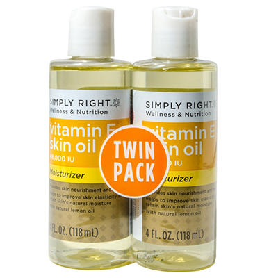 Simply Right Vitamin E Skin Oil - 4 oz. - 2 pk.
