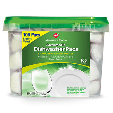Member's Mark Automatic Dishwasher Pacs - 105 ct.