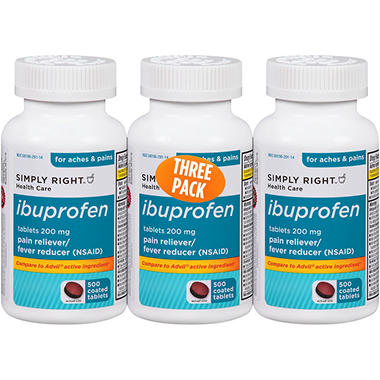 Simply Right Ibuprofen - 500 ct. - 3 pk.