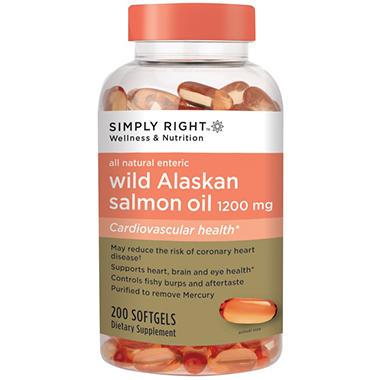 Simply right wild alaskan salmon oil softgels 1200 mg for Wild alaskan fish oil