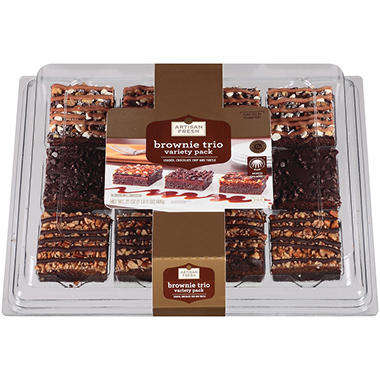 Artisan Fresh Brownie Trio Variety Pack - 21 oz.