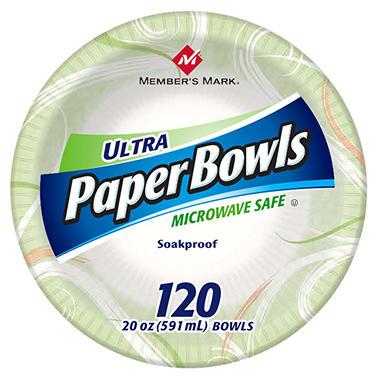 Member's Mark Ultra Paper Bowls - 20 oz. - 120 ct.