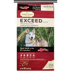 Simply Right Exceed Lamb and Rice Formula Dog Food - 44 lb.