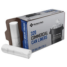 Member's Mark Commercial Can Liners (33gal., 320ct.)