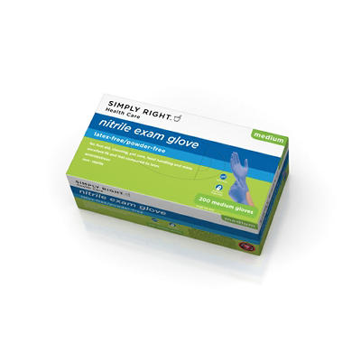 Simply Right Nitrile Exam Gloves - Medium - 200 ct.