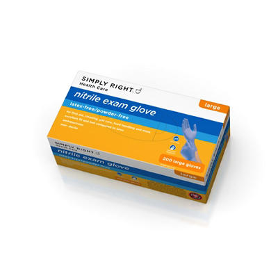Simply Right Nitrile Exam Gloves, Large (200 ct.)