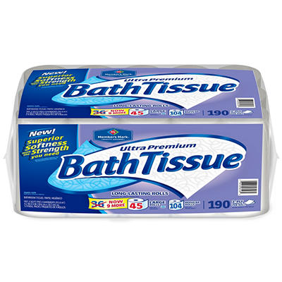 Member's Mark Bath Tissue - 190 Sheets/Roll - 45 Rolls