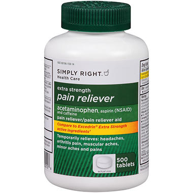 Simply Right Extra Strength Pain Reliever - 500 ct.