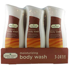 Simply Right Moisturizing Body Wash with Shea Butter - 24 fl. oz. - 3 pk.