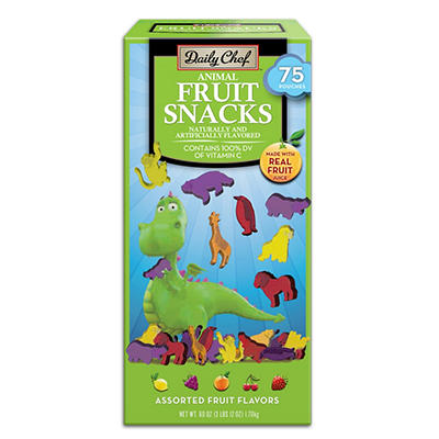 Daily Chef Animal Fruit Snacks - 75 ct.