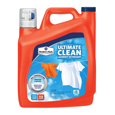 Member's Mark Ultimate Clean Liquid Laundry Detergent - 177 oz. - 115 Loads
