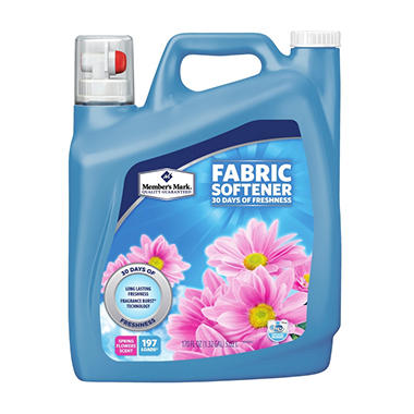 Member's Mark Liquid Fabric Softener, Spring Flowers Scent (170fl. oz., 197Loads)