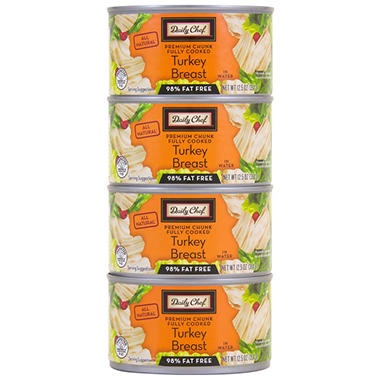 Daily Chef All Natural Turkey Breast - 12.5 oz. - 4 pk.