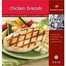 Member's Mark Chicken Breast Fillets (4 lbs.)