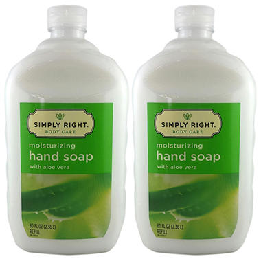 Simply Right Moisturizing Hand Soap with Aloe - 80 oz. - 2 pk.