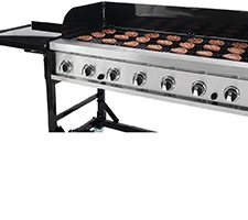 Made For Big Events Designed For High Volume Events This 8 Burner Grill Features 1006 Square Inches Of Co Nge Enough For 65 Hamburgers Or 126