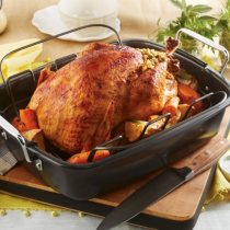 """Daily Chef 16"""" Nonstick Roaster with Rack"""