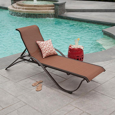 Aluminum Commercial Stack Chaise Lounge Sam S Club