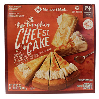 Daily Chef Pumpkin Cheesecake - 12 slices - 60 oz.