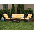 Member's Mark Stockton Deep Seating Set with Premium Sunbrella® Fabric in Cornsilk Yellow - 4 pcs., Original Price $999.00Image