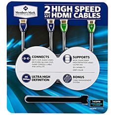 HDMI 9FT Cables - 2 Pack