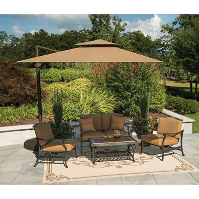 Member's Mark® 10 Foot Square Cantilever Umbrella with Premium Sunbrella® Fabric - Beige
