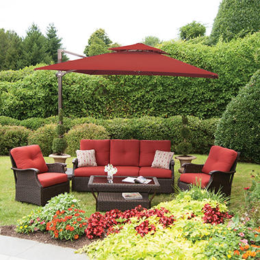 Member s Mark 10 Foot Square Cantilever Umbrella with