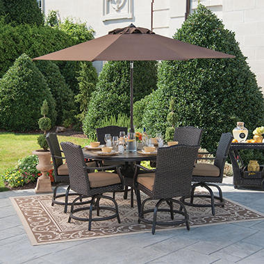Member's Mark® Heritage Balcony Height Dining Set with Premium Sunbrella® Fabric - 7 pcs.