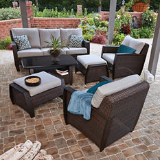 Member's Mark Brooklyn 6-Piece Deep Seating Set with Premium Sunbrella Fabric