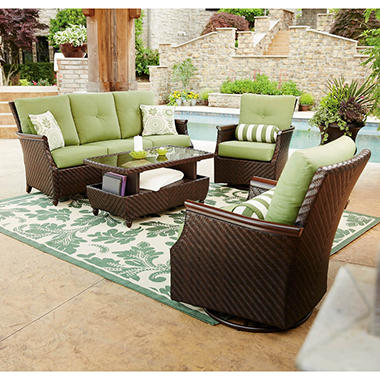 Members Mark Carnaby 4 Piece Patio Deep Seating Set with Premium Sunbrella Fabric