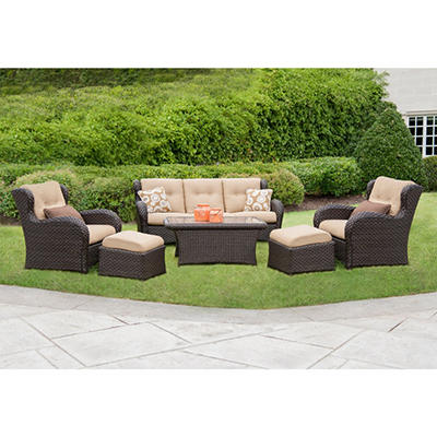 Member's Mark® Heritage Deep Seating Set with Premium Sunbrella® Fabric - 6 pcs.