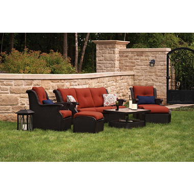 Member's Mark® Parisian Deep Seating Set with Premium Sunbrella® Fabric - 6 pcs.