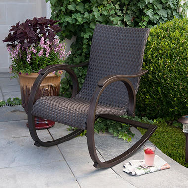 Member S Mark 174 Copa Woven Outdoor Rocker Review Patio