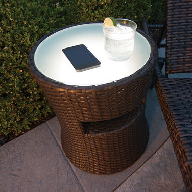 Speaker Side Table With Led Light Review Patio Furniture