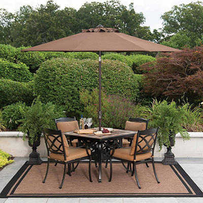 Member's Mark® Heirloom Bay Slate Dining Set with Premium Sunbrella® Fabric - 5 pc, Original Price $699.00