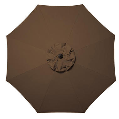 10' Market Umbrella with Premium Sunbrella® Fabric - Brown