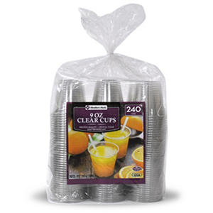 Daily Chef Clear Plastic Cups (9 oz. cups, 240 ct.)