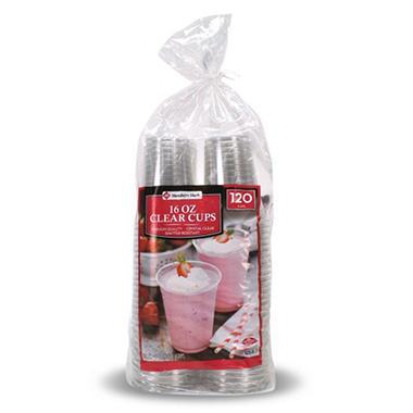 Member S Mark Clear 16 Oz Plastic Cups 120 Ct Sam S Club