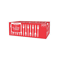 Daily Chef Plastic Forks, White (600 ct.)