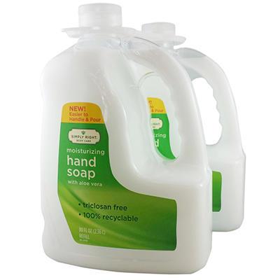 Simply Right Moisturizing Hand Soap Refills (80 fl. oz., 2 pk.)