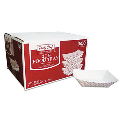 Daily Chef 2 lb. Capacity Food Tray (500 ct.)