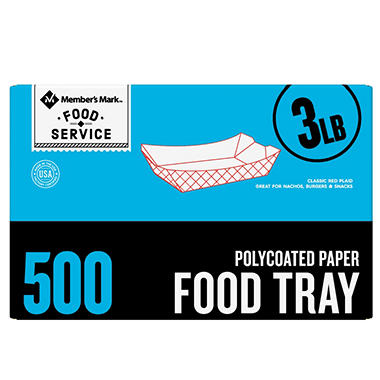 Member's Mark 3lb. Capacity Food Tray (500ct.)