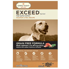 Simply Right Exceed Dog Food, Salmon & Pea Recipe (30 lbs.)