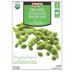 Daily Chef Organic Edamame Soybeans  (4 lbs. bag, 8 ct.)
