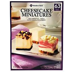Member's Mark Variety Mini Cheesecakes (63 ct.)