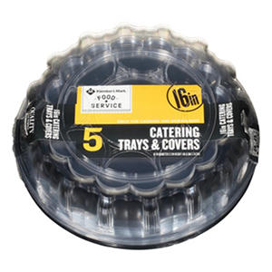 "Daily Chef 16"" Catering Tray with Lids (5 pk.)"