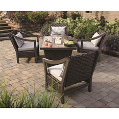 Santa Monica 5-Piece Fire Pit Chat Set